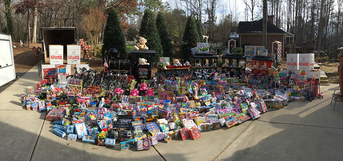 Toy Donation made by Santa's Village for Toys for Tots