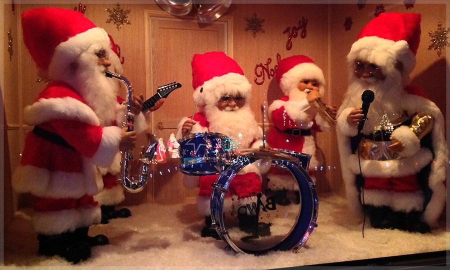 Santa Band Christmas Decorations