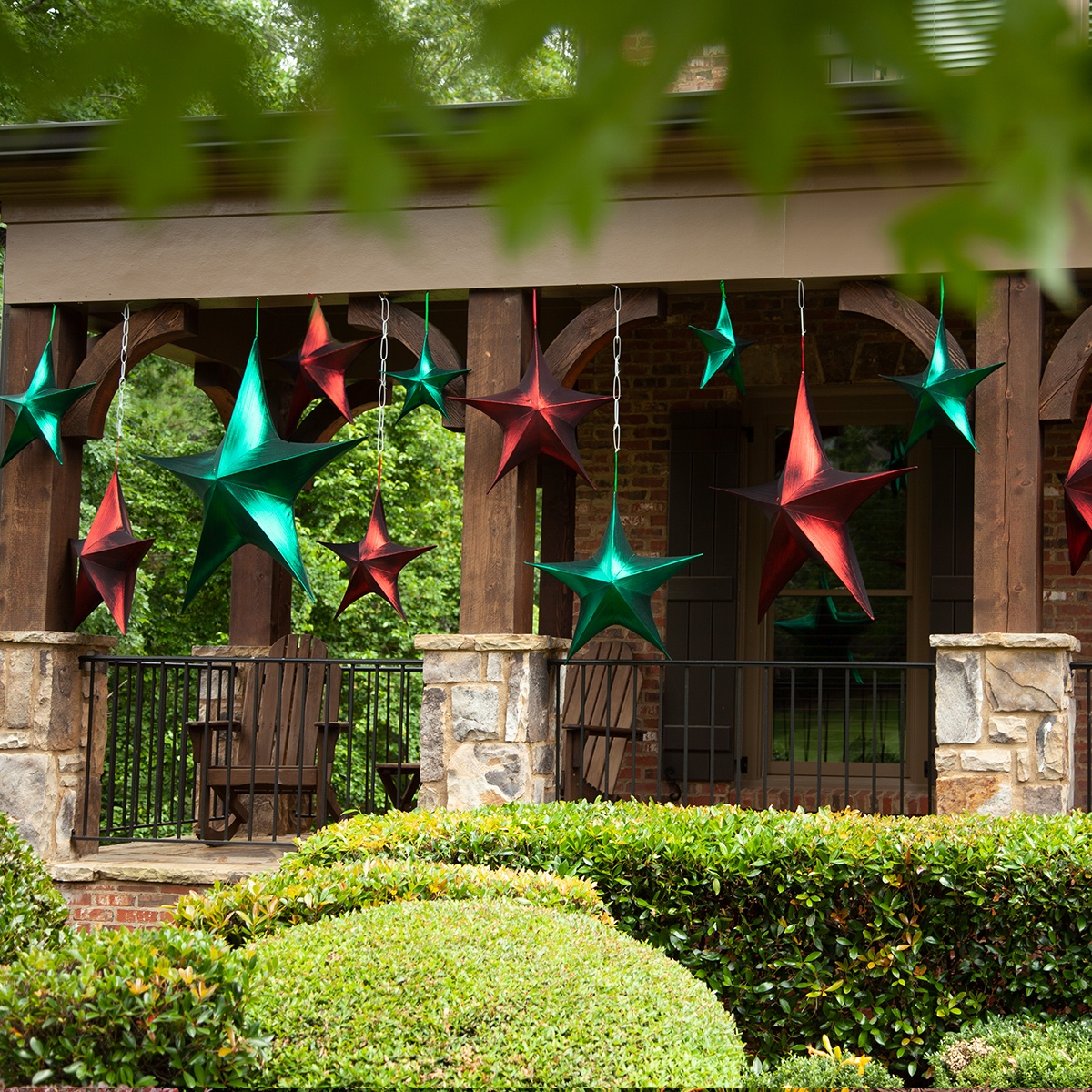 Christmas Stars Porch Decorations