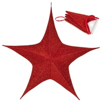Unlit Fold Flat Christmas Star Decorations