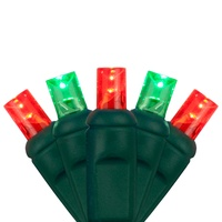 Red & Green LED Mini Christmas Lights for Wrapping Trees