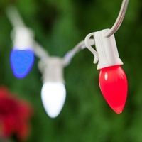 Red, White and Blue String Lights - Patriotic Decorations
