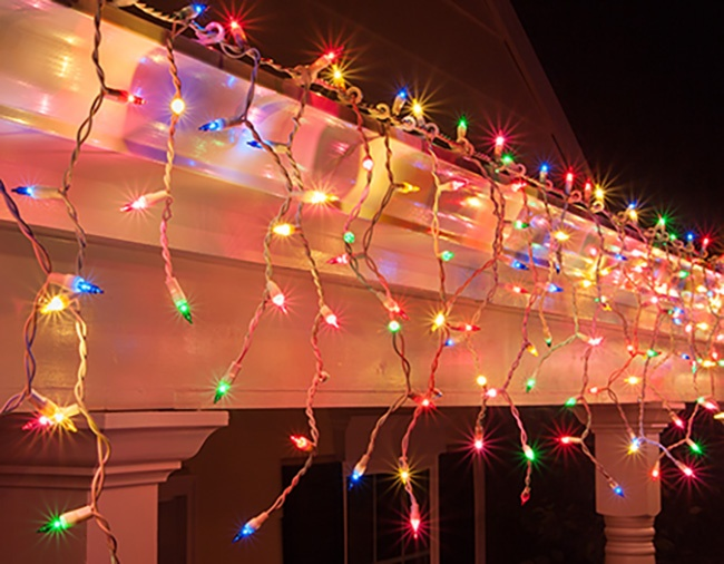 Christmas Icicle Roof Lights