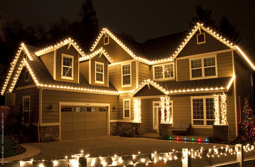 White LED Christmas Roof Lights