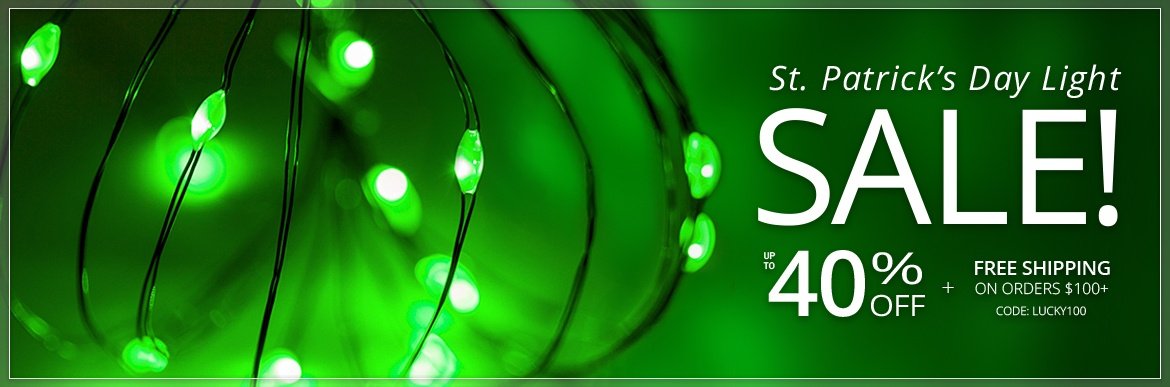 St. Patrick's Day Light Sale!
