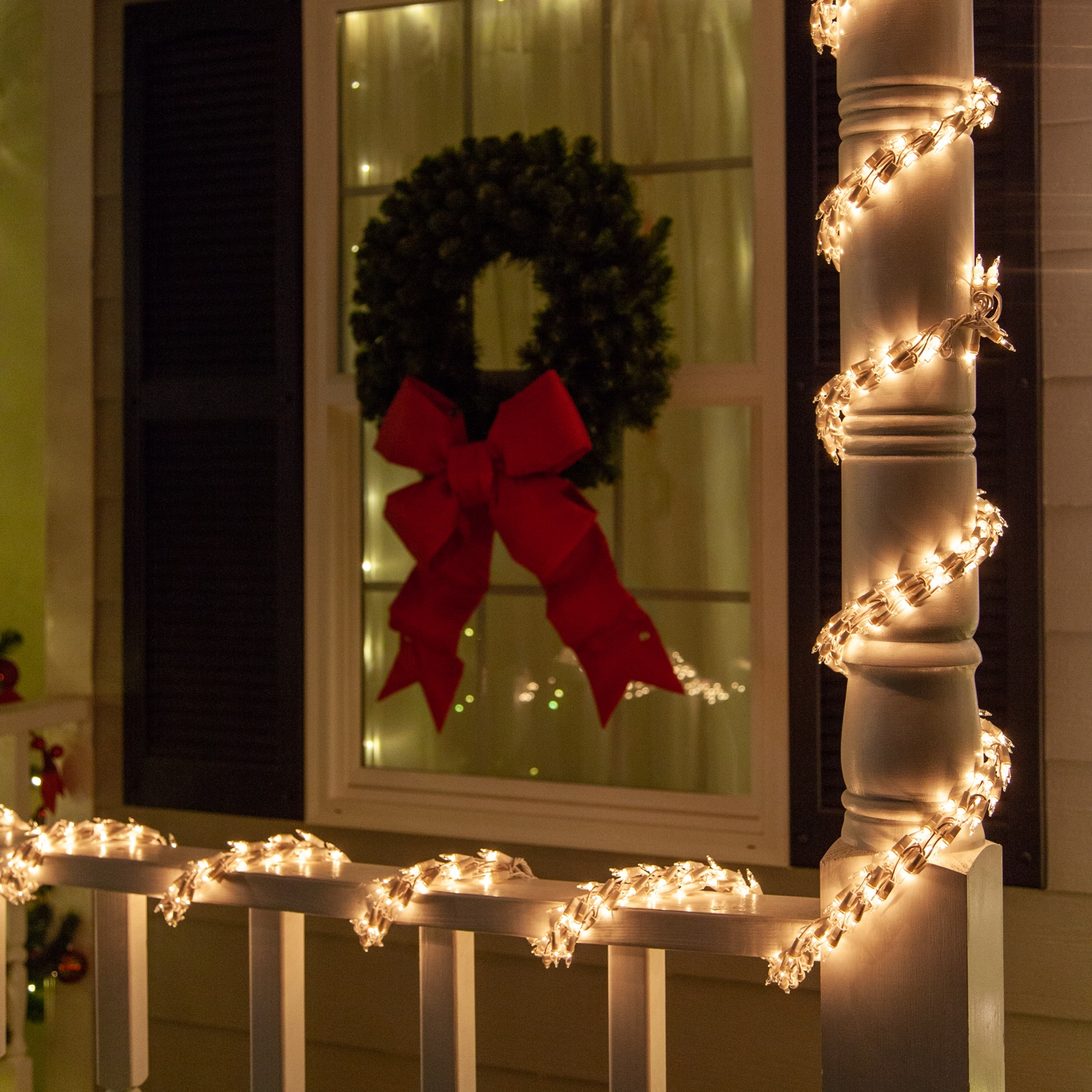 Garland Lights Christmas Porch Decorations