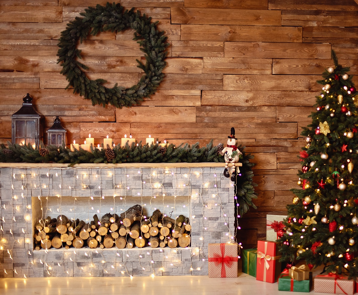 String Lights Christmas Mantel Decorations