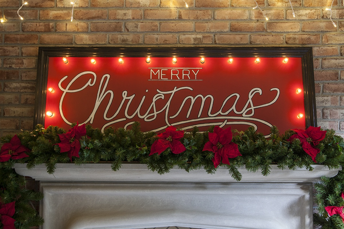 DIY Merry Christmas Marquee Sign
