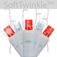 Red & White SoftTwinkle LED Icicle Lights
