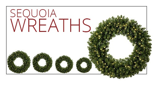 Sequoia Fir Prelit Commercial Christmas Wreath