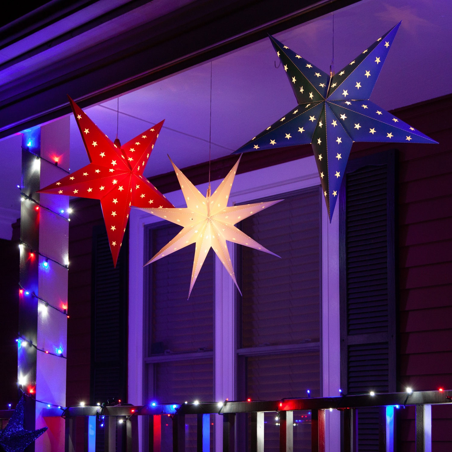 Patriotic Star Porch Decorations