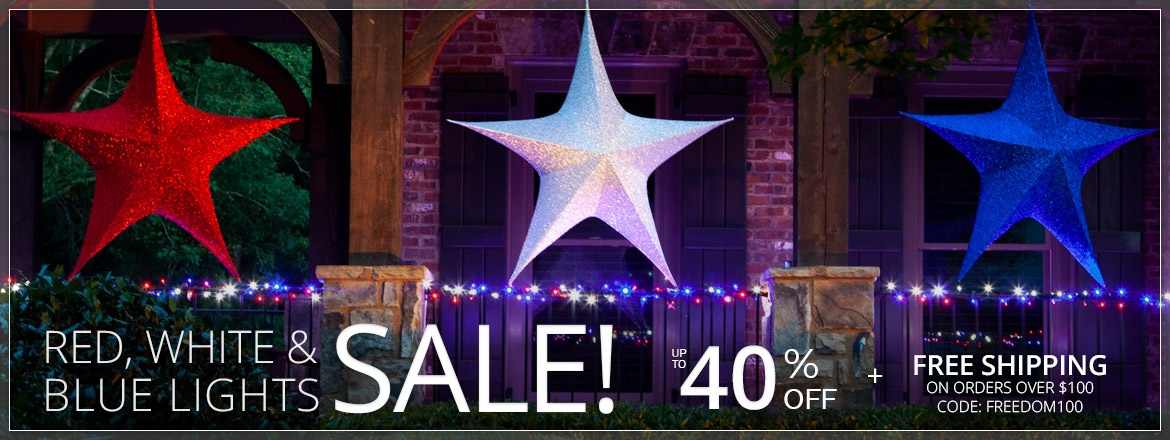 Red, White & Blue Lights Sale!