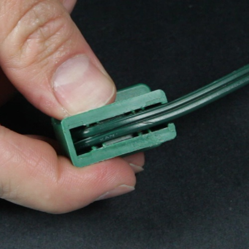 Lay Wire into Plug Channel