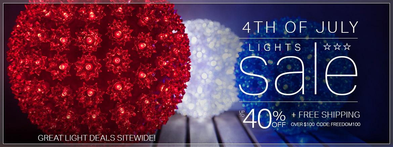 4th of July Lights Sale!