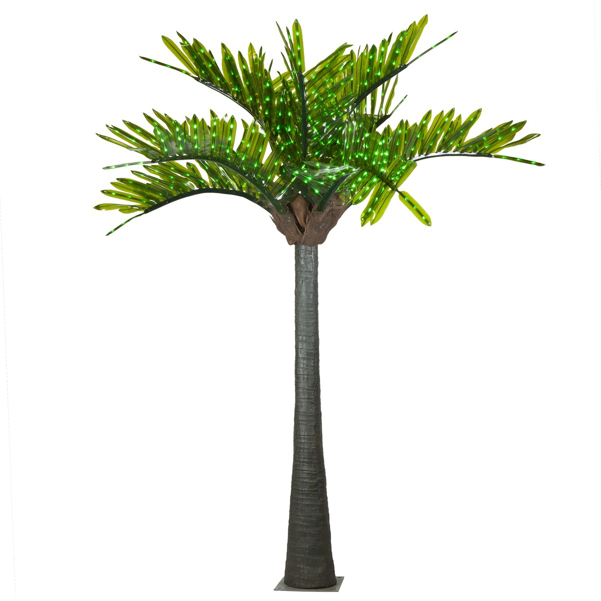 Realistic LED Commercial Lighted Palm Tree