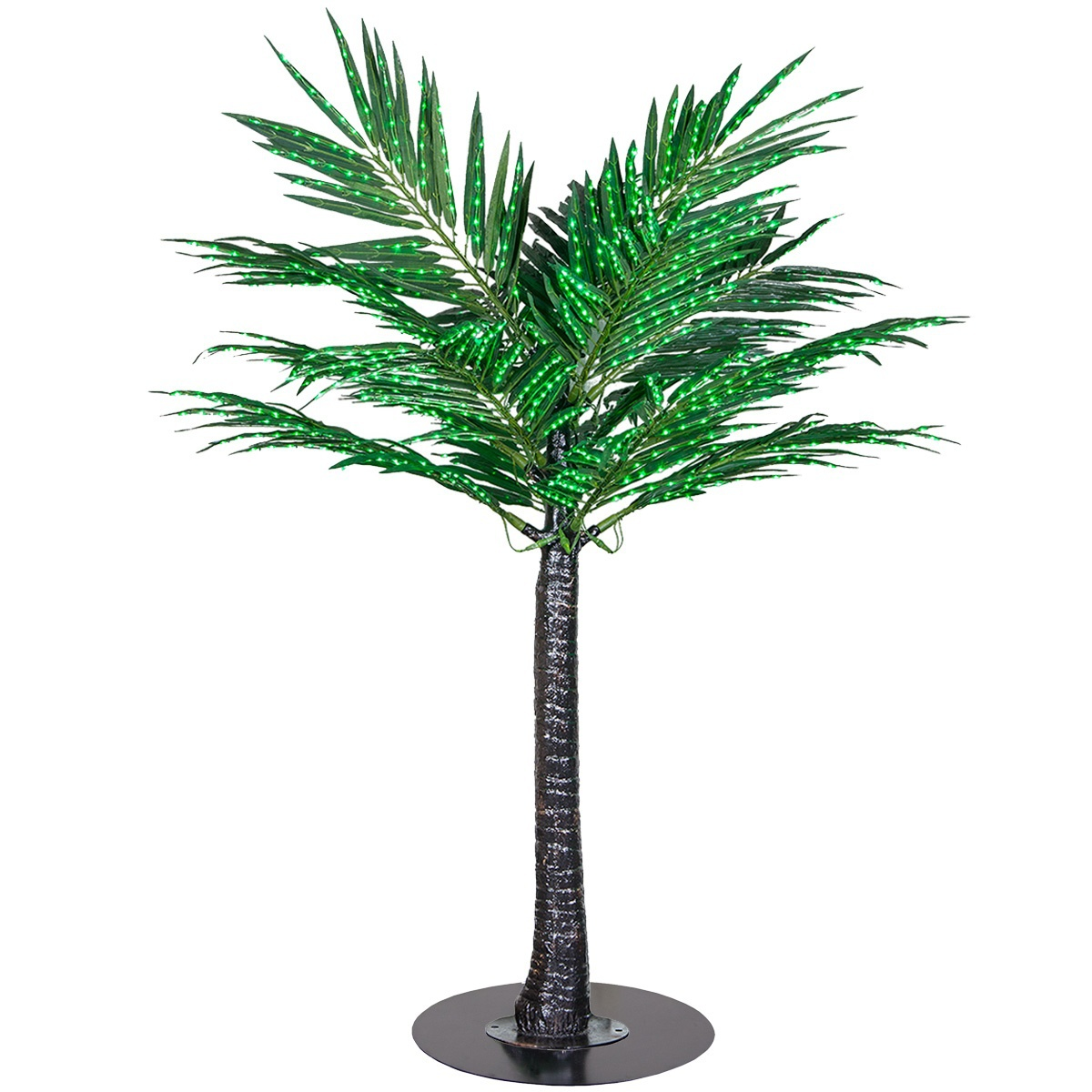 Commercial Lighted Palm Tree with Base