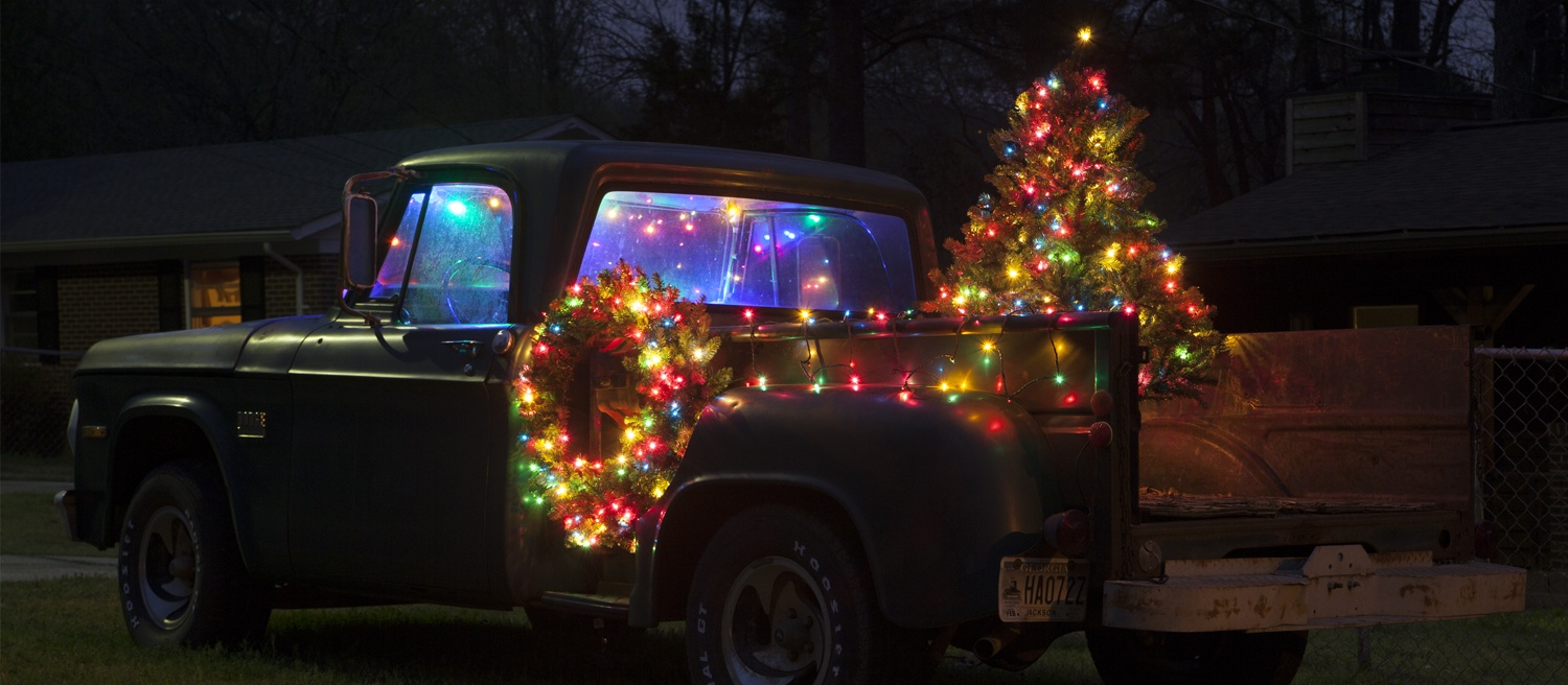 Christmas Truck Decorating Ideas