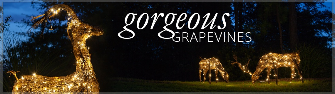 Grapevine Outdoor Christmas Decorations