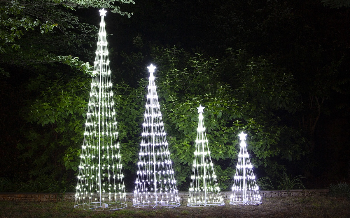Animated LED Lightshow Trees