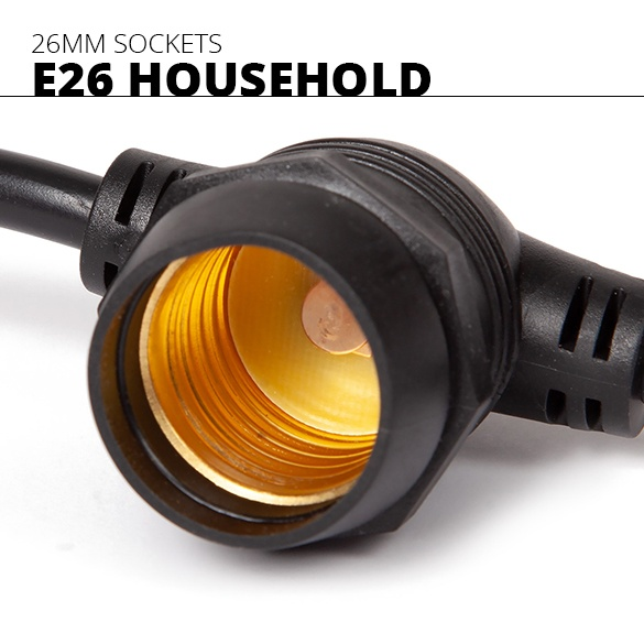 E26 Commercial Patio Light Strings