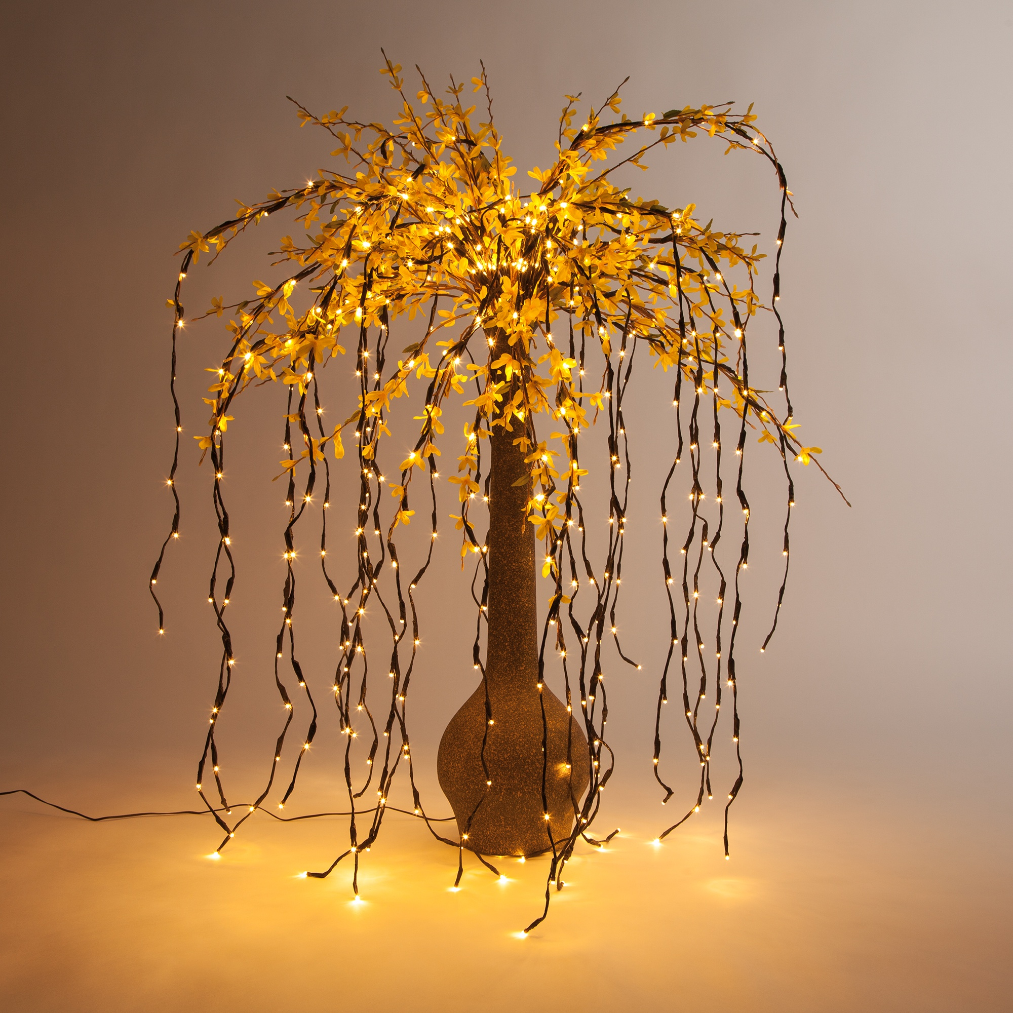 Falling Lighted Branches DIY Floral Arrangement