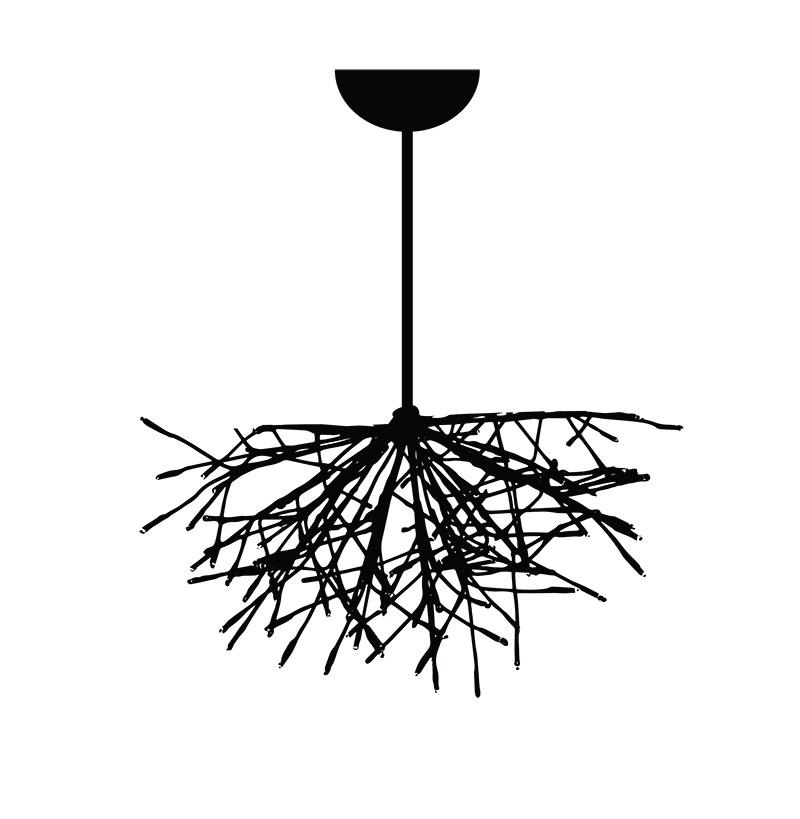 Starburst Lighted Branches Chandelier