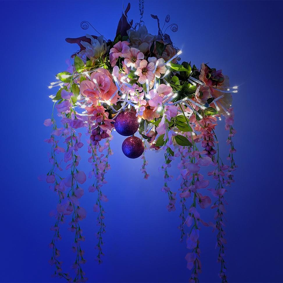 Garden Blooms DIY Floral Chandelier