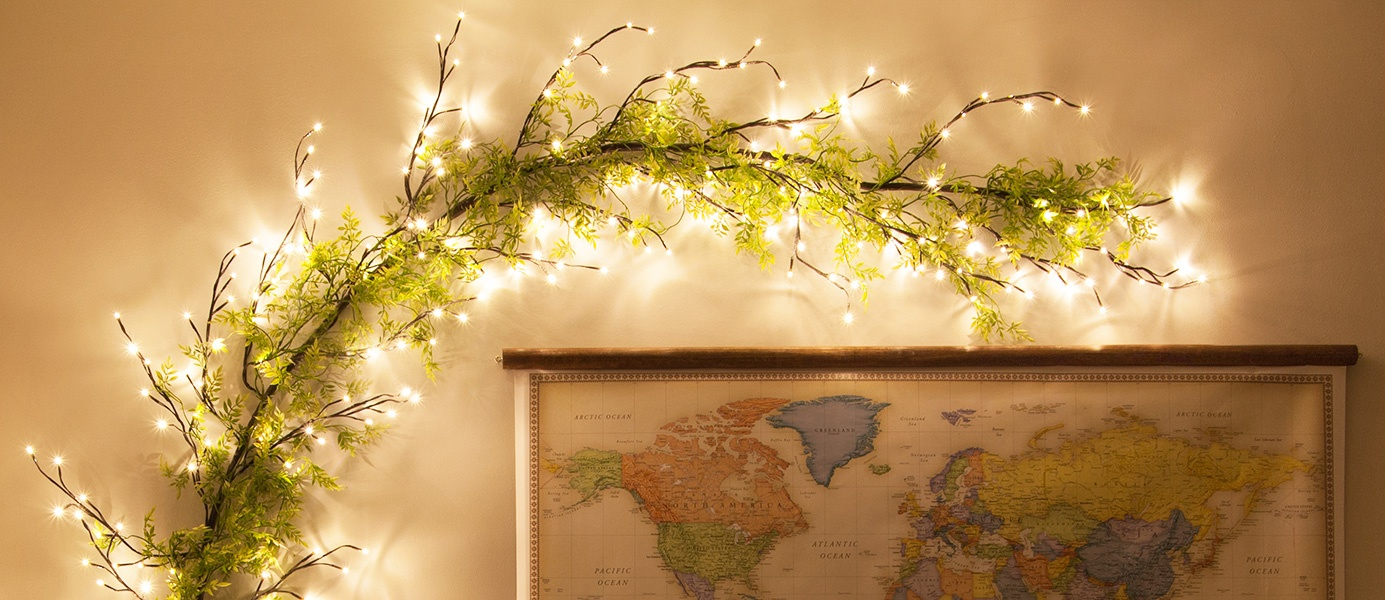 Create 3D Wall Art with Climbing Vine Lighted Branches!