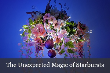 Starburst Lighted Branches Faux Floral Arrangements