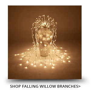 Falling Willow Lighted Branches