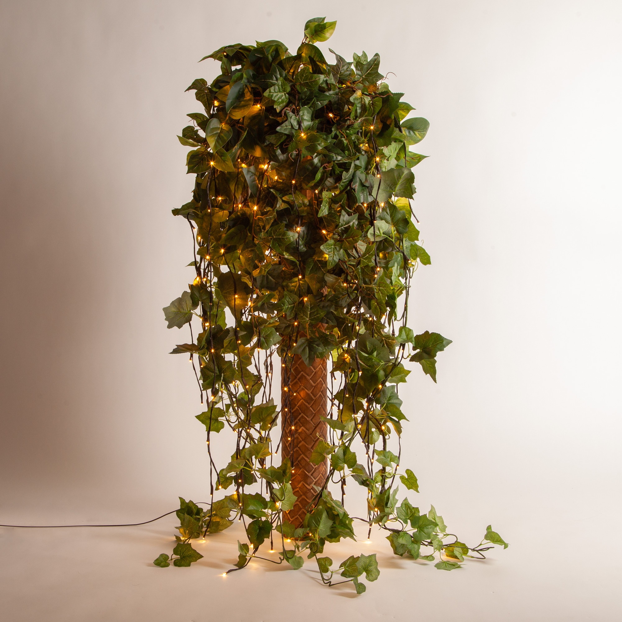 Lighted Branches and Ivy Faux Floral Arrangement