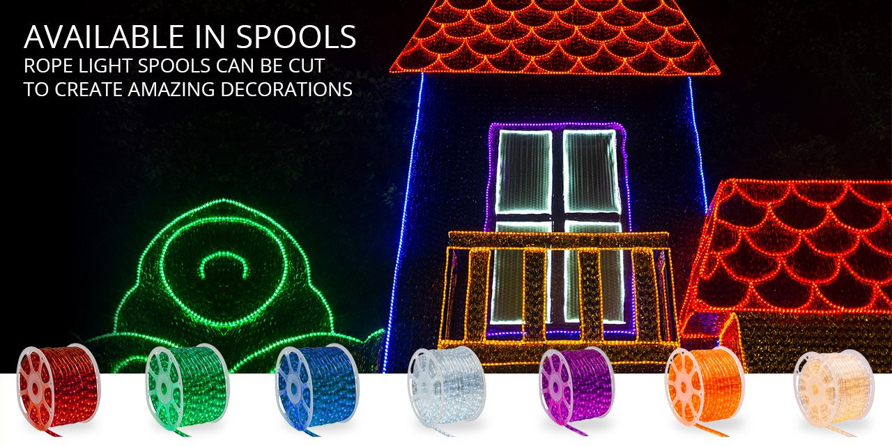 Rope Light Spools for Large Indoor and Outdoor Lighting Projects