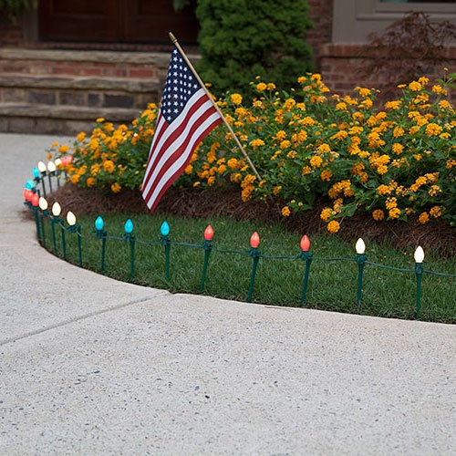 Red, White & Blue Patriotic Walkway Lights