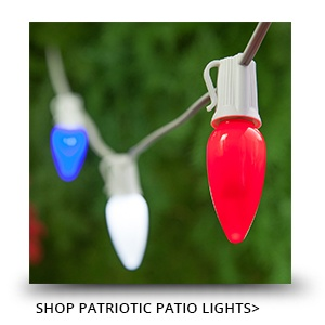 Patriotic Patio Lights