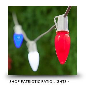 Patriotic Patio Lights