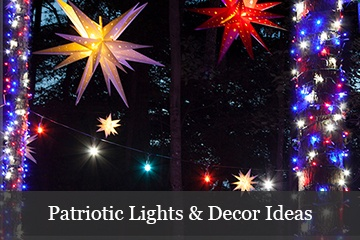 Patriotic Lights & Decor Ideas