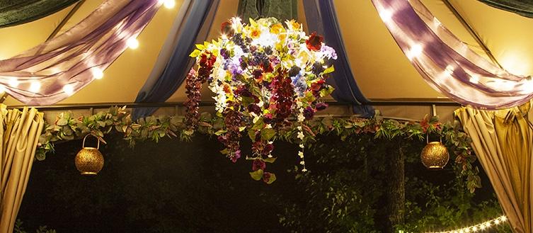Starburst Lighted Branches Floral Arrangement