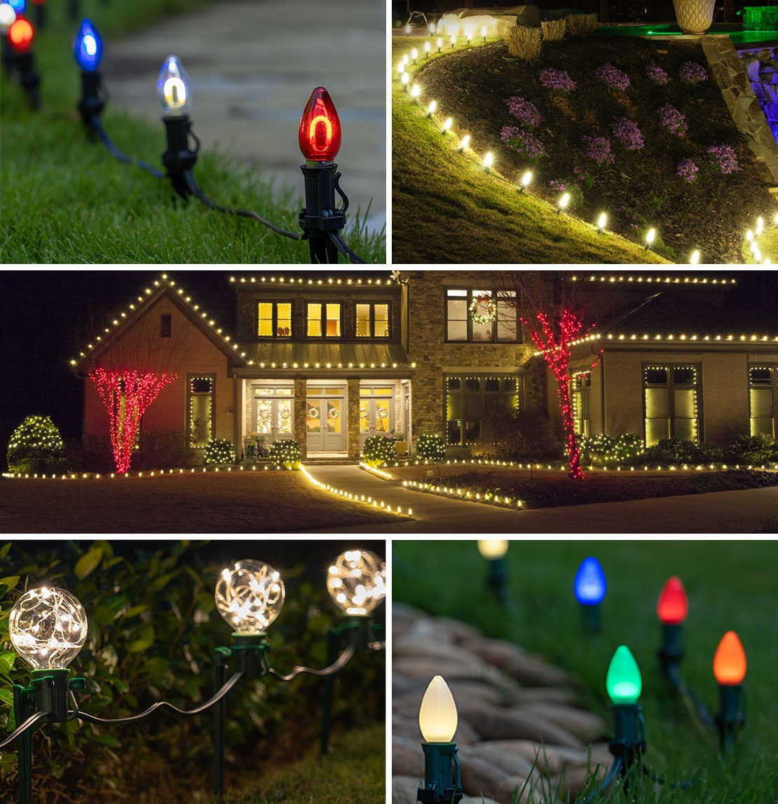 Walkway Lighting Ideas for Christmas, Outdoor Parties and Events