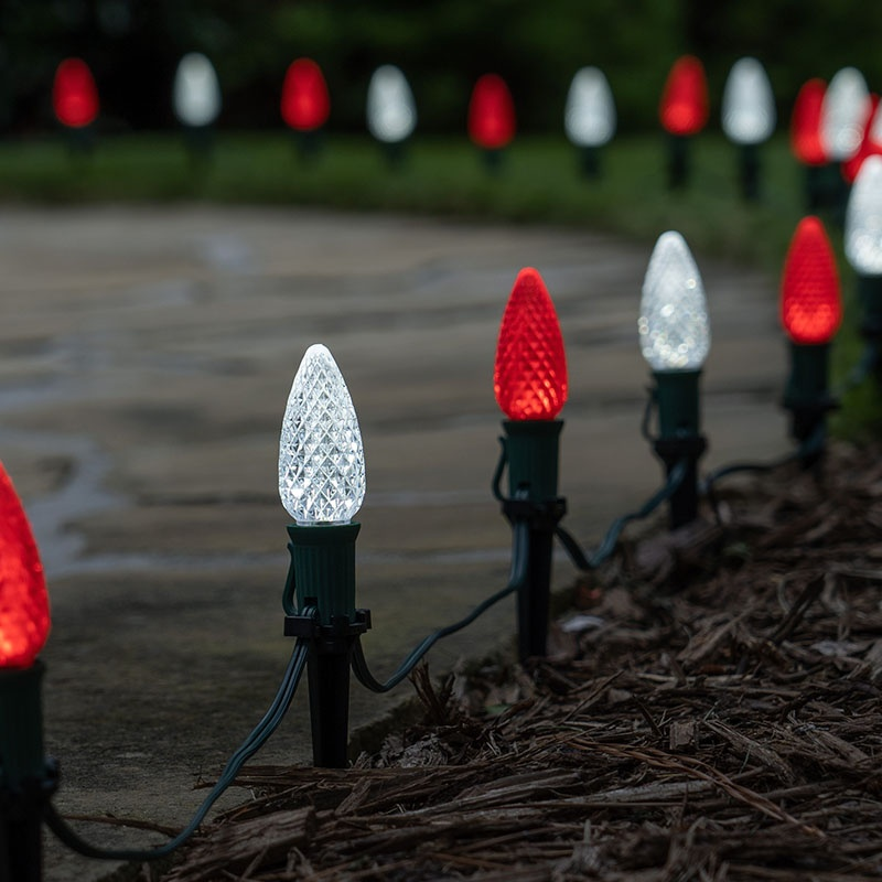 Red & White Christmas Pathway Lights