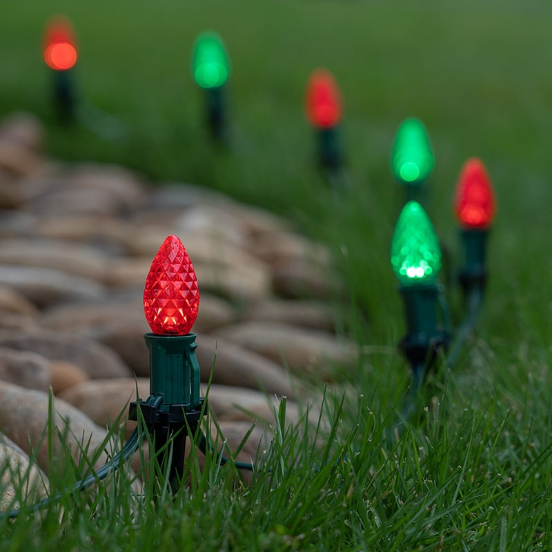 Red & Green Christmas Pathway Lights
