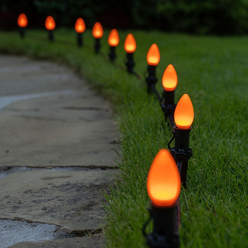 Orange Halloween Pathway Lights