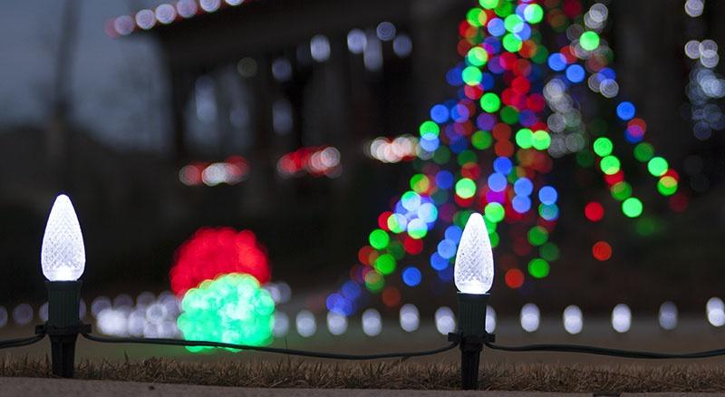 White Christmas Pathway Lights
