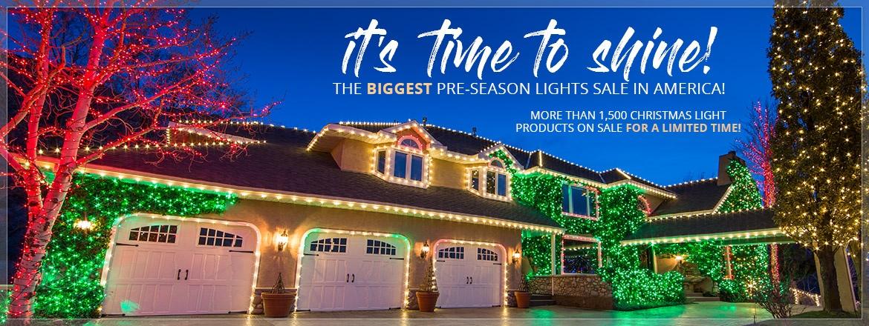 October Pre-Season Christmas Lights Sale!