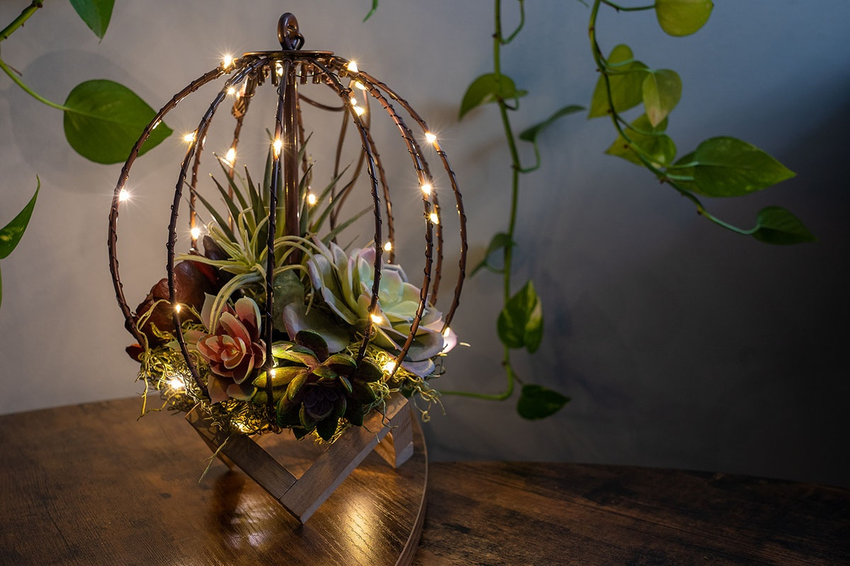 DIY Terrarium Light Ball