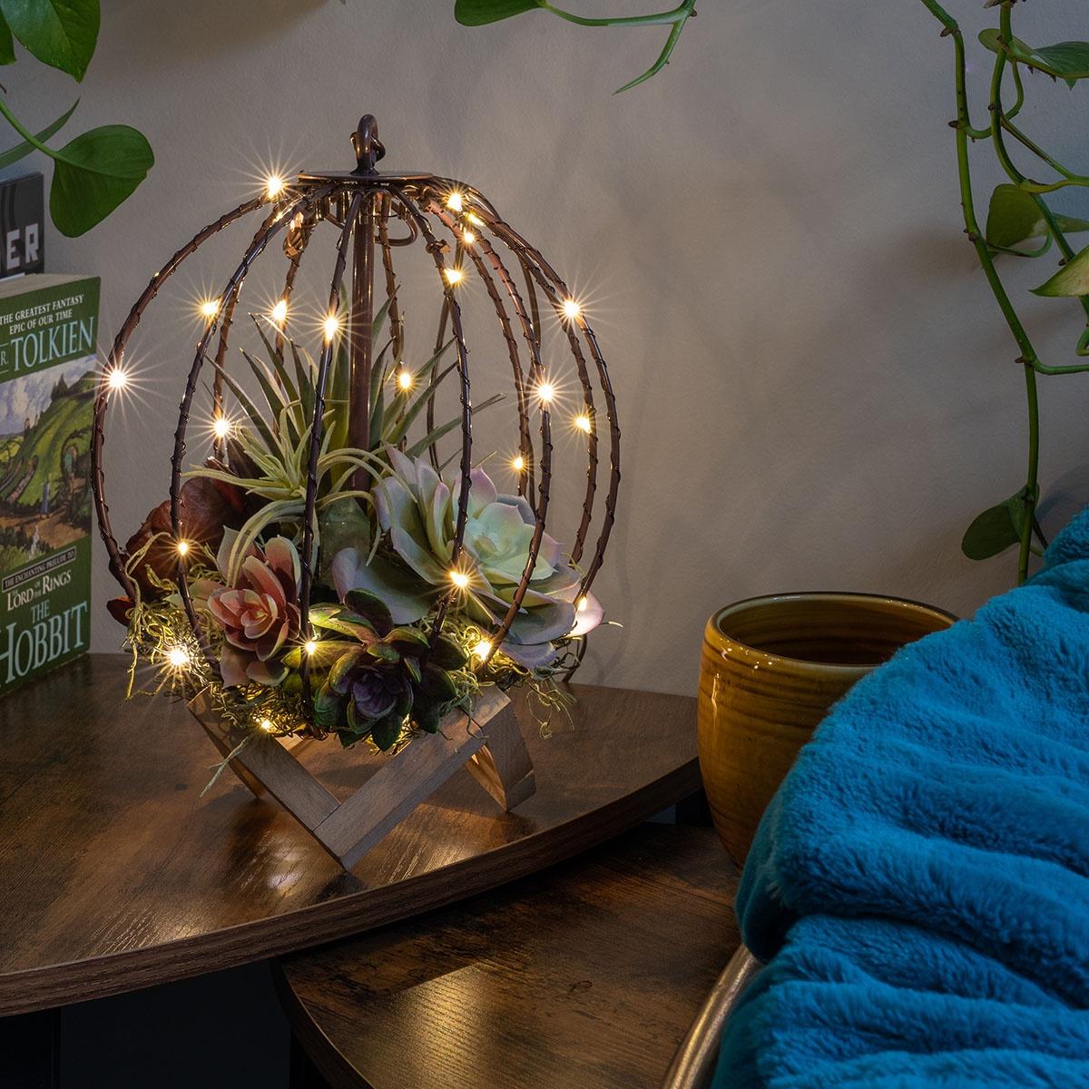 DIY Terrarium Light Ball Project