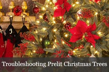 Troubleshooting Prelit Christmas Trees