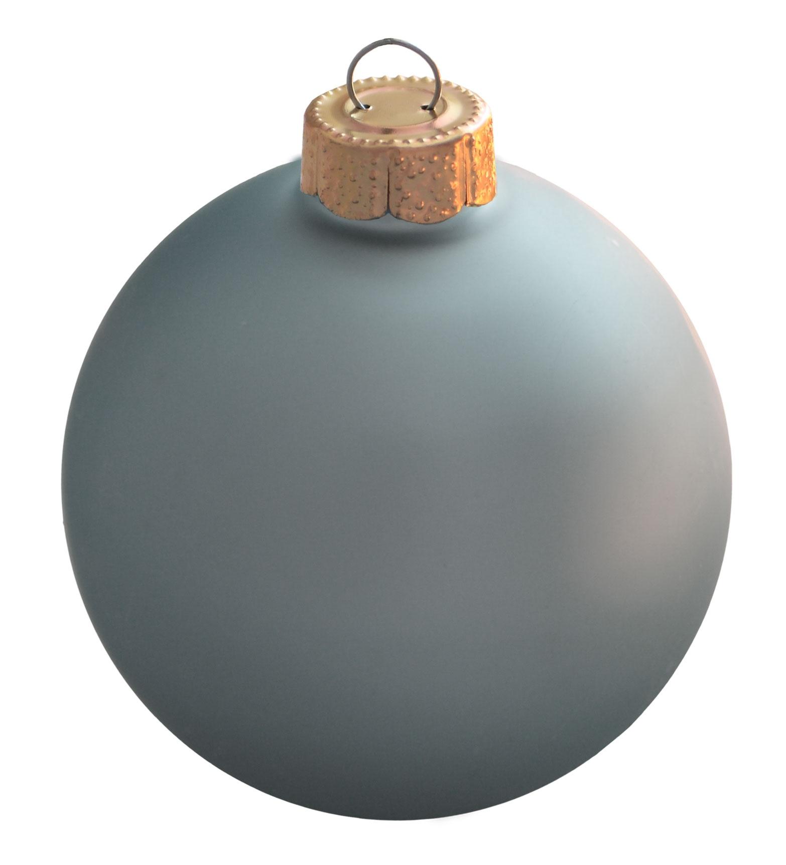 Baby blue glass ball christmas ornament