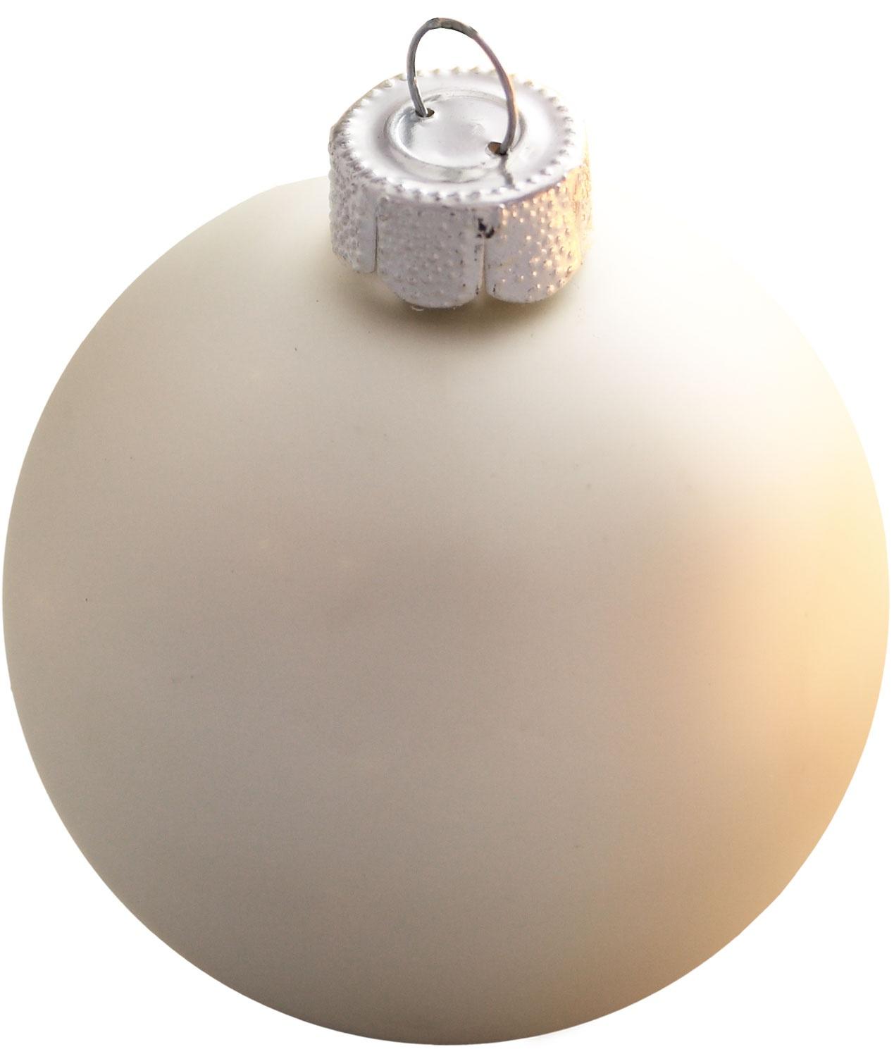 Silver Glass Ball Christmas Ornament