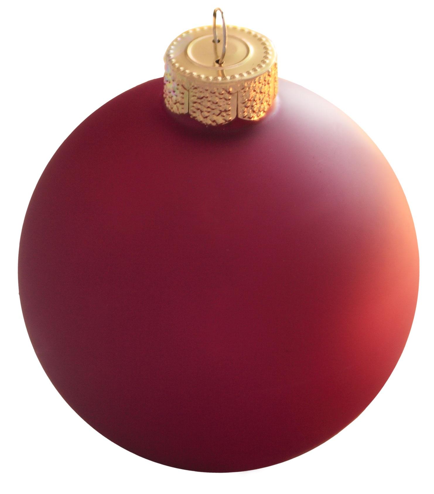 Soft Rose Glass Ball Christmas Ornament