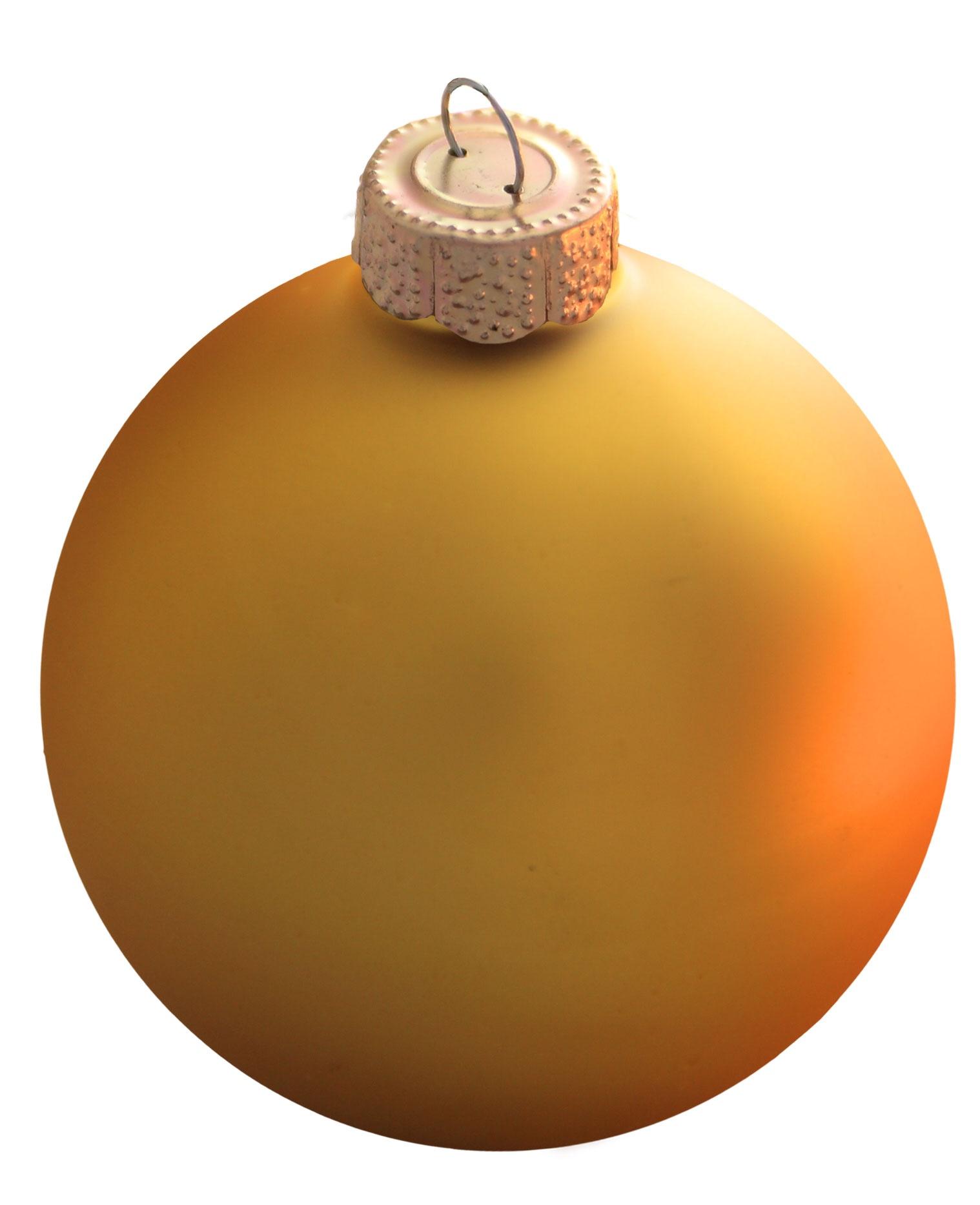 Sun Yellow Glass Ball Christmas Ornament